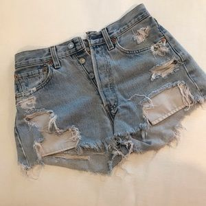Levi's 501 Destroyed Shorts